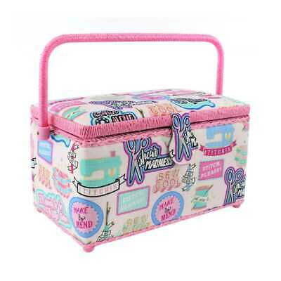 NEW Semco Sew Cool Sewing Basket By Spotlight