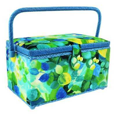 NEW Semco Tossed Leaves Sewing Basket By Spotlight