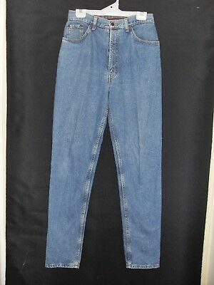 1980's Vintage High Waisted Denim Jeans with Tapered Legs.