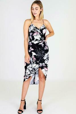 3rd Love Monotone Bloom Midi Dress with Open Shoulders in Print