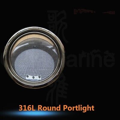 10 Inch 250mm 316L SS Round Opening Portlight Porthole For Marine Boat Yacht RV