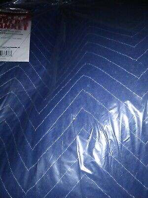 "72"" x 80"" MOVER's BLANKET blue poly cotton Padded Quilted 6x6.5 Furniture moving"
