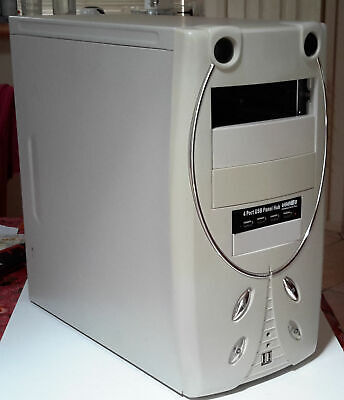 Case Computer old with new LG DVD Player and 4 port USB