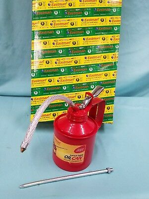 EASTMAN 1 Pint Metal Oil Can Straight & Flexible Spout Nozzle Pump Brand-new