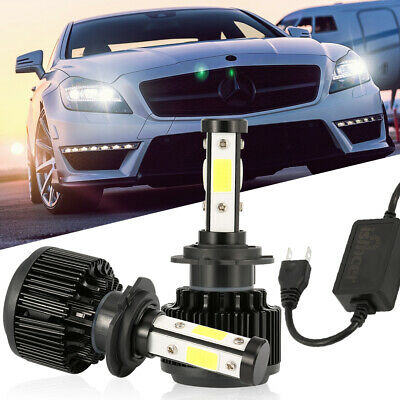 H7 LED 4800W 40000LM Auto-Scheinwerfer-Kit 4-seitig Lampen DRL hohes Canbus DE