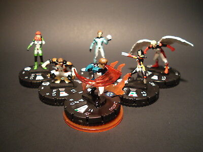 HeroClix Marvel Fast Forces - All New X Men - Miniatures x6 w/Cards (#7)