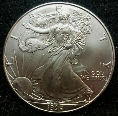 1999 American Silver Eagle from Roll !!  BU !!