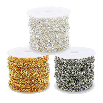 10 Yards/Roll Jewelry Making Chain DIY Necklace Bracelet Tail Extender Chain