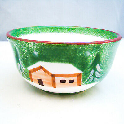 The Cellar LOG CABIN CHRISTMAS Soup/Cereal Bowl(s) EXCELLENT