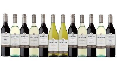 Red And White Mixed Wine Pack - Award Winning Jacob's Creek Classic 12 x 750ml