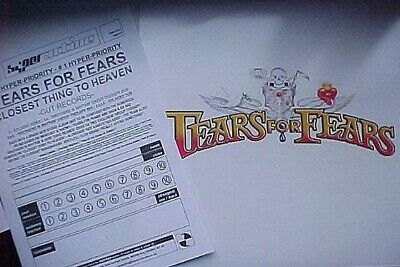 "TEARS FOR FEARS CLOSEST THING TO HEAVEN 2 x12"" UK VINYLPR0M0 +PRESS SHEET"