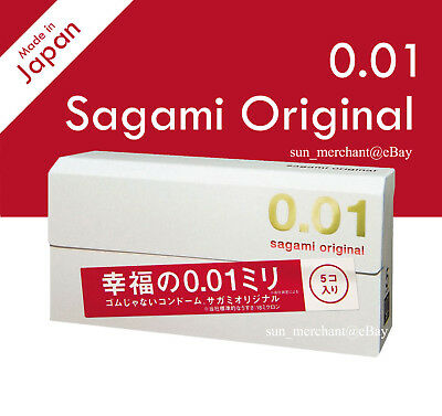 Sagami Original 001 Ultra Thin 0.01mm Condom 5 pcs Japan (US Seller)