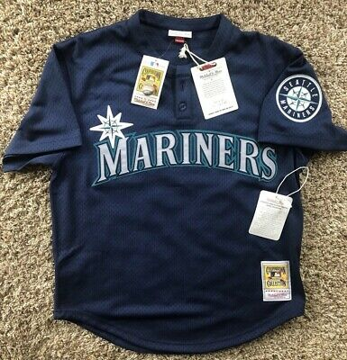 on sale 08220 3d3df KEN GRIFFEY JR. Authentic Mitchell & Ness Seattle Mariners Jersey Size 44  Large