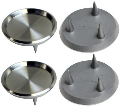 IsoAcoustics Spiked Stainless Steel Carpet Discs for GAIA I, II, III (Set of 4)