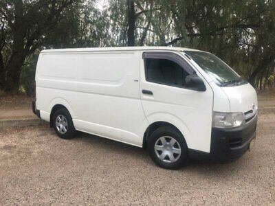 2009 Toyota Hiace KDH201R MY07 Up LWB White Manual 5sp M Van
