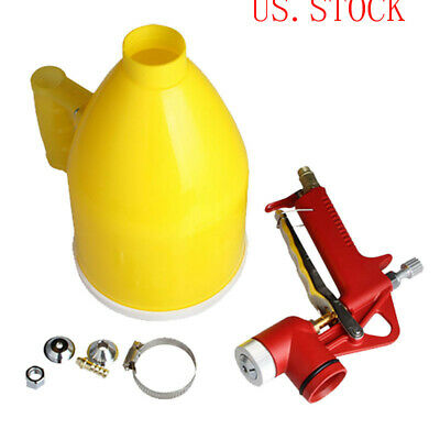 Wall Painting Sprayer 3 Nozzle Air Hopper Spray Gun Paint Texture Tool Drywall