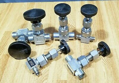 6 Whitey Valves (2 each) SS-31RS4, SS-3LRF4 & SS-1VS8 GREAT SHAPE Swagelok