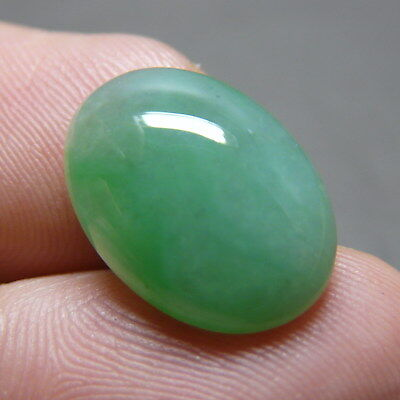 7.8 ct Genuine Jadeite Jade (Type A) Light Green-White Cloud Texture Cabochon