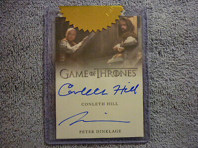 Rittenhouse Game Thrones CONLETH HILL PETER DINKLAGE Dual Autograph Auto