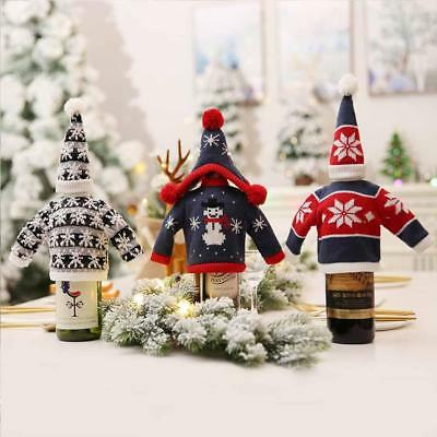 Christmas Eve Wine Champagne Bottle Bag Dinner Party Gift Wrap Xmas Decoration