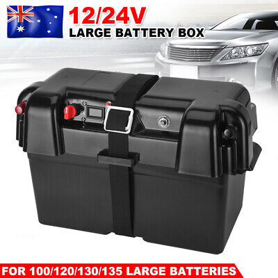 Battery Box AGM Deep Cycle 135AH Dual System 12V USB Ports Large Marine AU STOCK