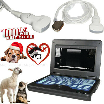 USA Veterinary Portable Ultrasound Scanner Laptop Machine 3.5Mhz Convex Probe