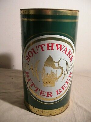 Southwark Bitter Giant Vintage Beer Can Money Box Green Death Tin Sign Big Large