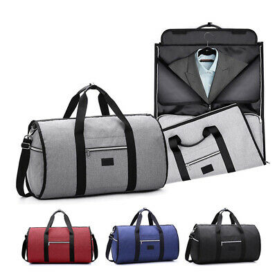 2 in1 Business Travel Garment Bag Carry On Suit Outdoor Gym Luggage Duffel Large