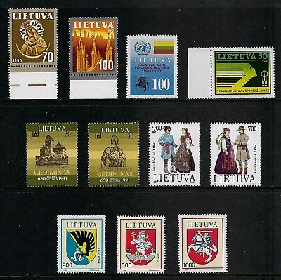 LITHUANIA mixed mint collection, 1991-1992, MNH MUH