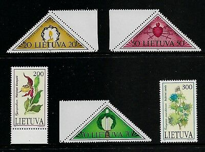 LITHUANIA 1991 Resistance to Occupation 1992 Plants Red Book, mint sets, MNH MUH
