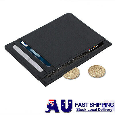 Men's Leather Wallet Opal Card Holder Slim Wallet  ID Money Credit Card Holder