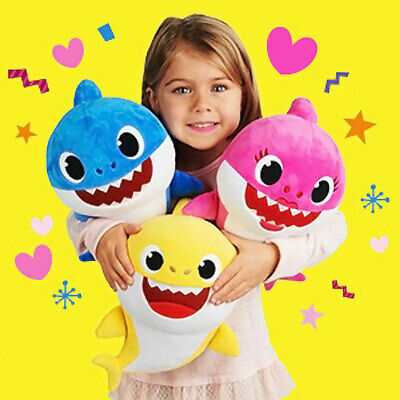 Cute PinkFong Family Baby Shark Singing Plush Music Soft Dolls English Song Play