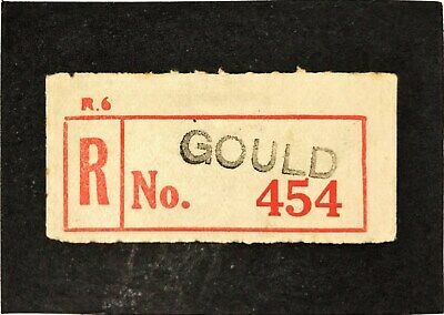 Registration Label VICTORIA RED C4a GOULD No. 454  (provisional)