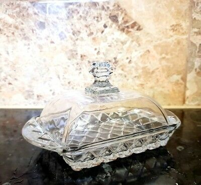 Good Quality Glass Butter Dish With Lid & Handle,Transparent