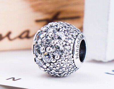Authentic Pandora Silver Enchanted Pave Clear 797032CZ Charm Bead