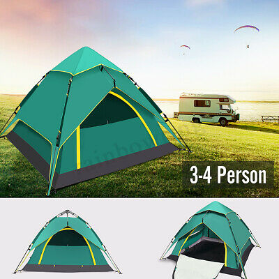 4 Person Double Layer Instant Camping Tent Outdoor Camp Shelter UV Protect AU