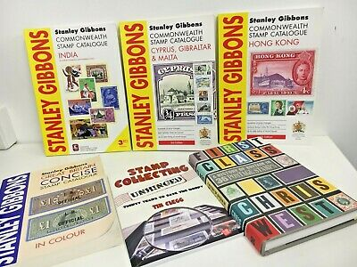 STAMP COLLECTING Book Bundle x 6 Catalogues Stanley Gibbons / Various Job Lot