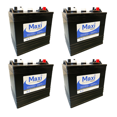 4 x MAXIPOWER T105 Battery - 6V Deep Cycle - Alternative to Trojan & US Battery