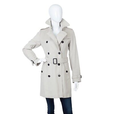 32b8c6da Burberry Mid Lenght Wool Cashmere Women's Trench Coat Beige UK 8 US 6 40  Jacket