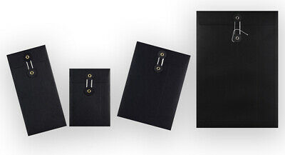 Strong Black String & Washer Document Storage Bottom&Tie Envelopes All Sizes