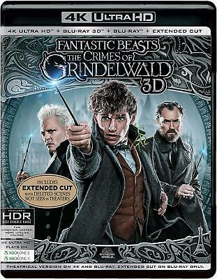 Fantastic Beasts: The Crimes of Grindelwald (4K + 3D + Blu-ray + Ext. Cut) (New)
