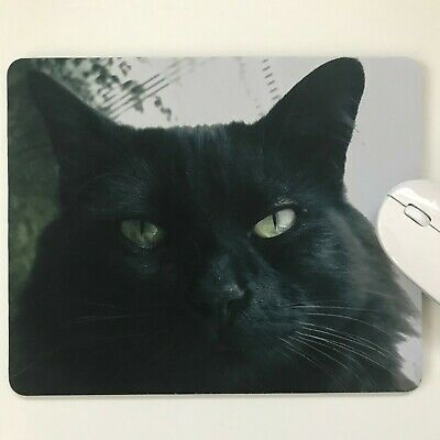 black cat #1  mouse pad mouse mat high quality 5MM thick made in uk