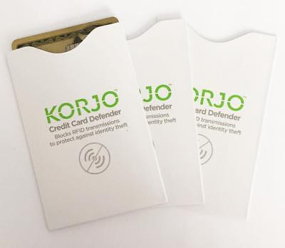 KORJO Credit Card Defender Blocks RFID to protect from identity theft-3 Sleeves