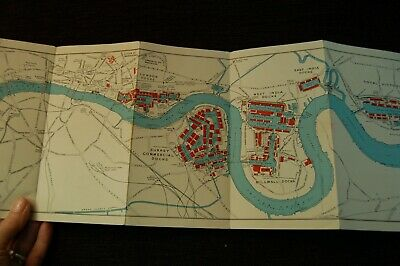 1949 Vintage Port Of London Authority Plan Of London's Dockland