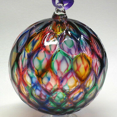 Handblown Glass Ornament, Made and Sold by the artist,  Tazza Glass