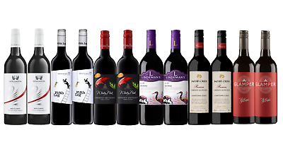 Red Wine Shiraz & Cab Sauv Mixed 12x750ml Free and Fast Shipping