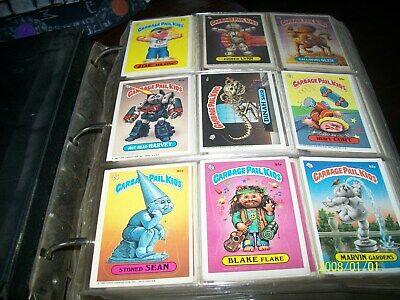 over 1100 garbage pail kids cards from 1986, 1987, 1988