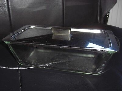 Vintage Glasbake Serving Dish With Lid For Phillips Hostess Trolley. Item J522