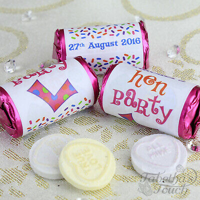 Personalised Mini Love Hearts Rolls | Party Sweets Gift Bag Favour | Hen Party