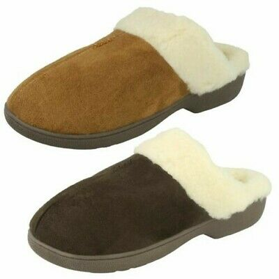 Jyoti /'Wendy/' Ladies Luxury Fur Lined Slip On Mule Slippers